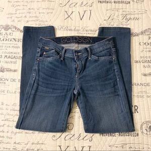 Goldsign 'Misfit' cropped jeans Size 26